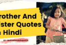 Brother And Sister Quotes In Hindi